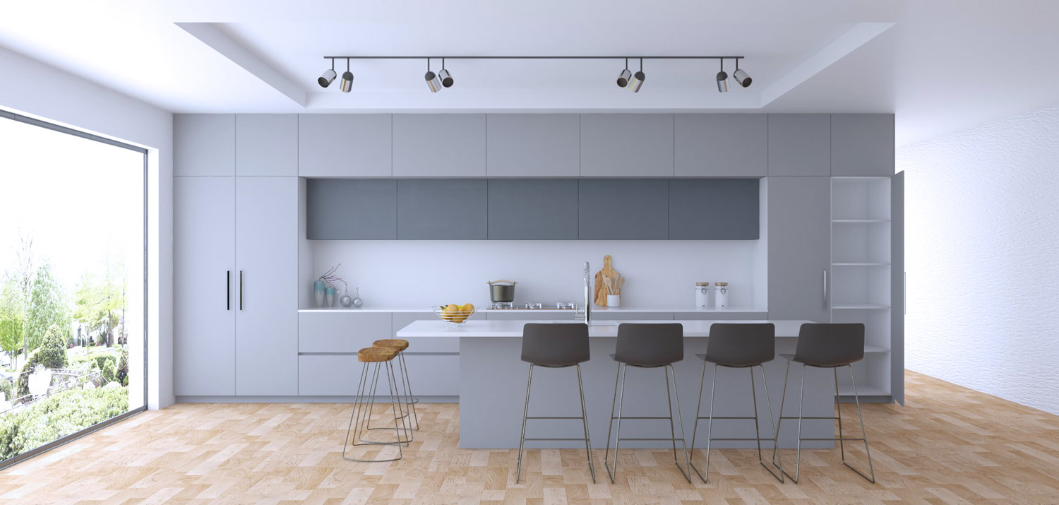 kitchen cupboard design render – Bianca range