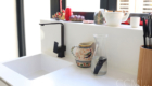 seamless integrated kitchen sink