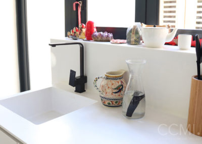 seamless integrated kitchen sink